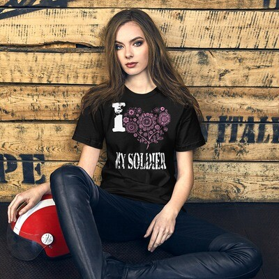 I Pink Heart My Soldier Short-Sleeve Unisex T-Shirt