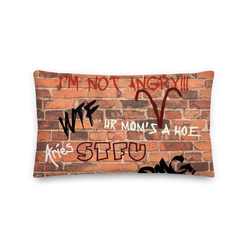 Aries Sh*t Premium Pillow