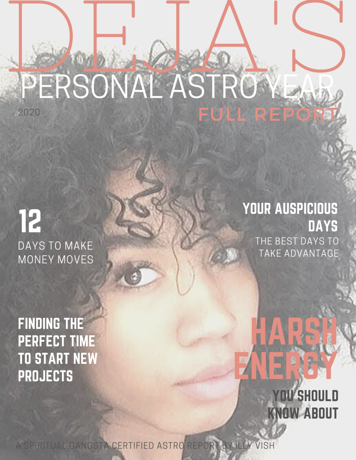 Personalized Astrological Year Magazine Style Full PDF Report