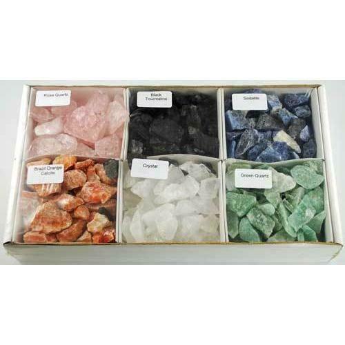 6 Piece untumbled stones set  5 lb