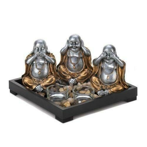 No Evil Buddha Candle Garden (pack of 1 SET)