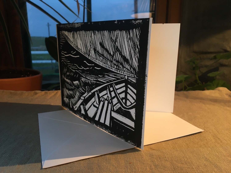 Blank, individually hand printed cards