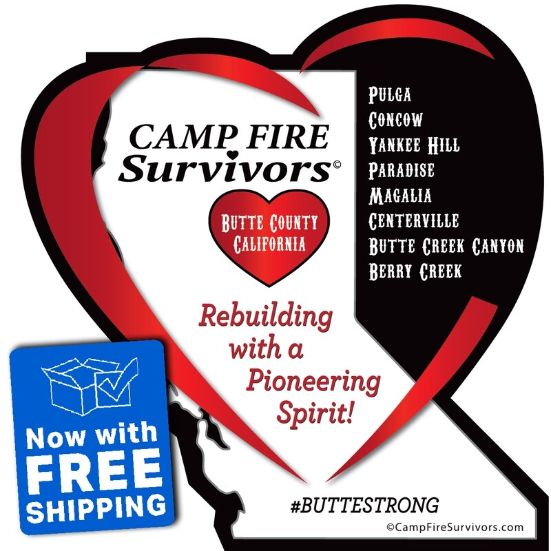 Camp Fire Survivors© Sticker