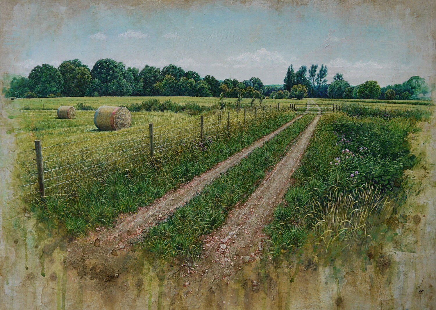 Summer Hay bales, Monmouth