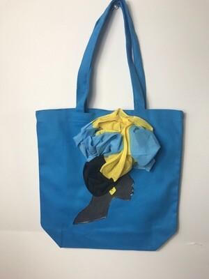 3-D bahamian Tote bag 03   (13.5 X 13x5)