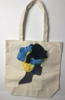 3-D bahamian Tote bag 01   (13.5 X 13x5)