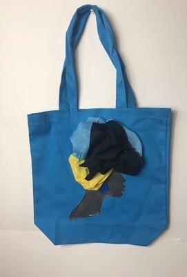 3-D bahamian Tote bag 02   (13.5 X 13x5)