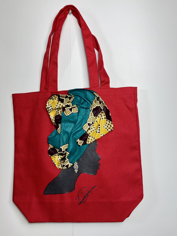 3-D Canvas Tote bag 023 (13x13x5)