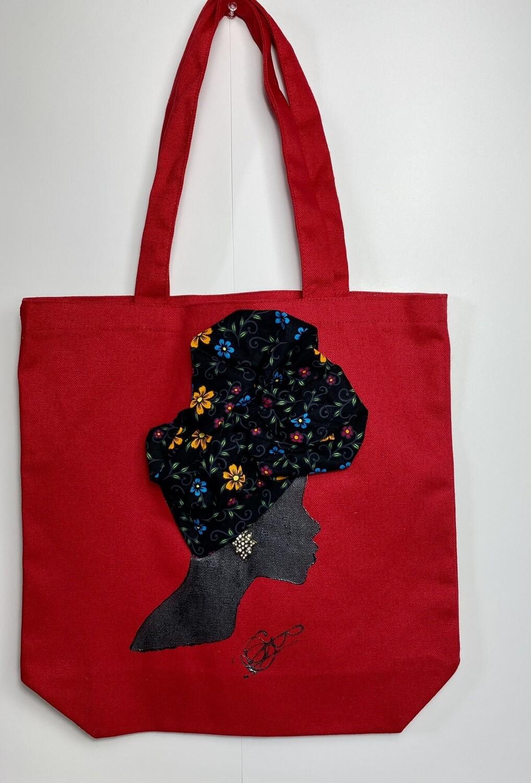 3-D Canvas Tote bag 024 (13x13x5)