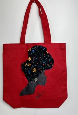 3-D Canvas Tote bag 024 (13x13x5)