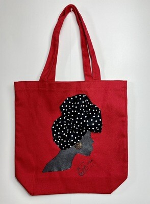 3-D Canvas Tote bag 025 (13x13x5)