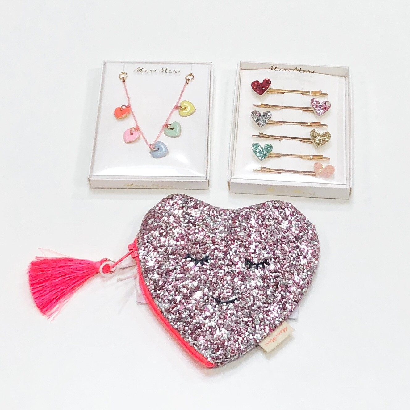 Glitter Heart Change Purse