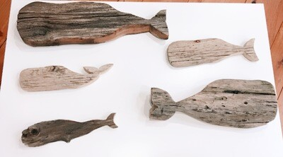 Driftwood Whale - Large