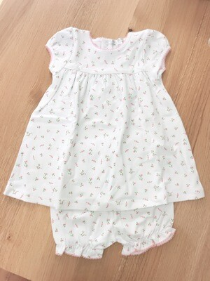 Garden Roses Print Dress w/Diaper Cover