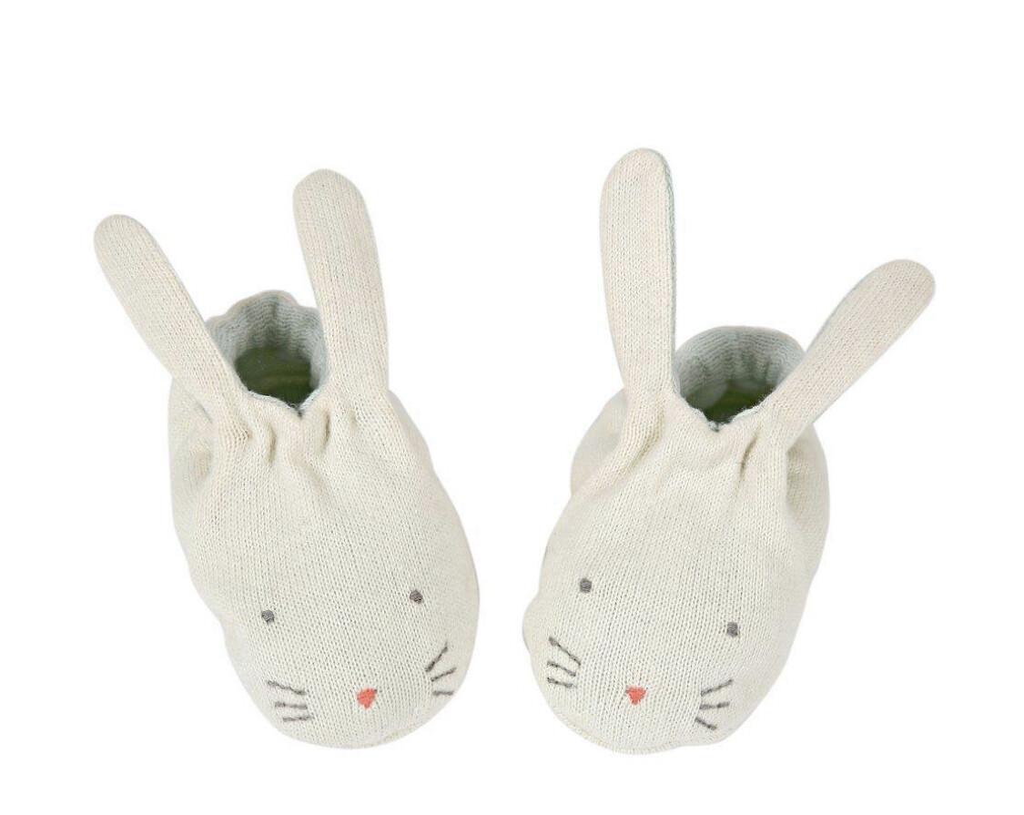Mint Bunny Booties