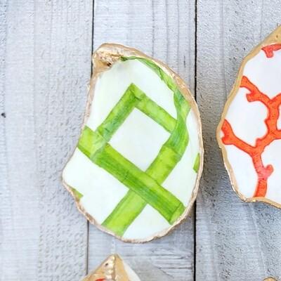 Green Bamboo Oyster Shells