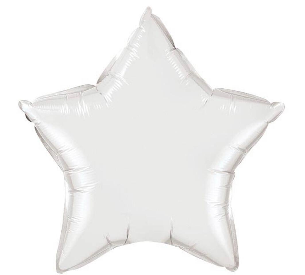 """20"""" Silver Star Balloon"""