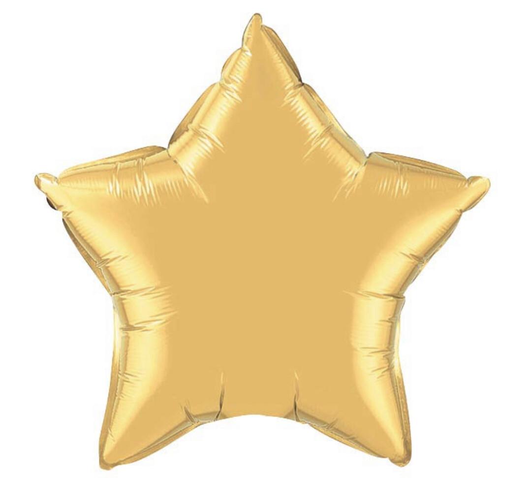 "20"" Gold Star Balloon"