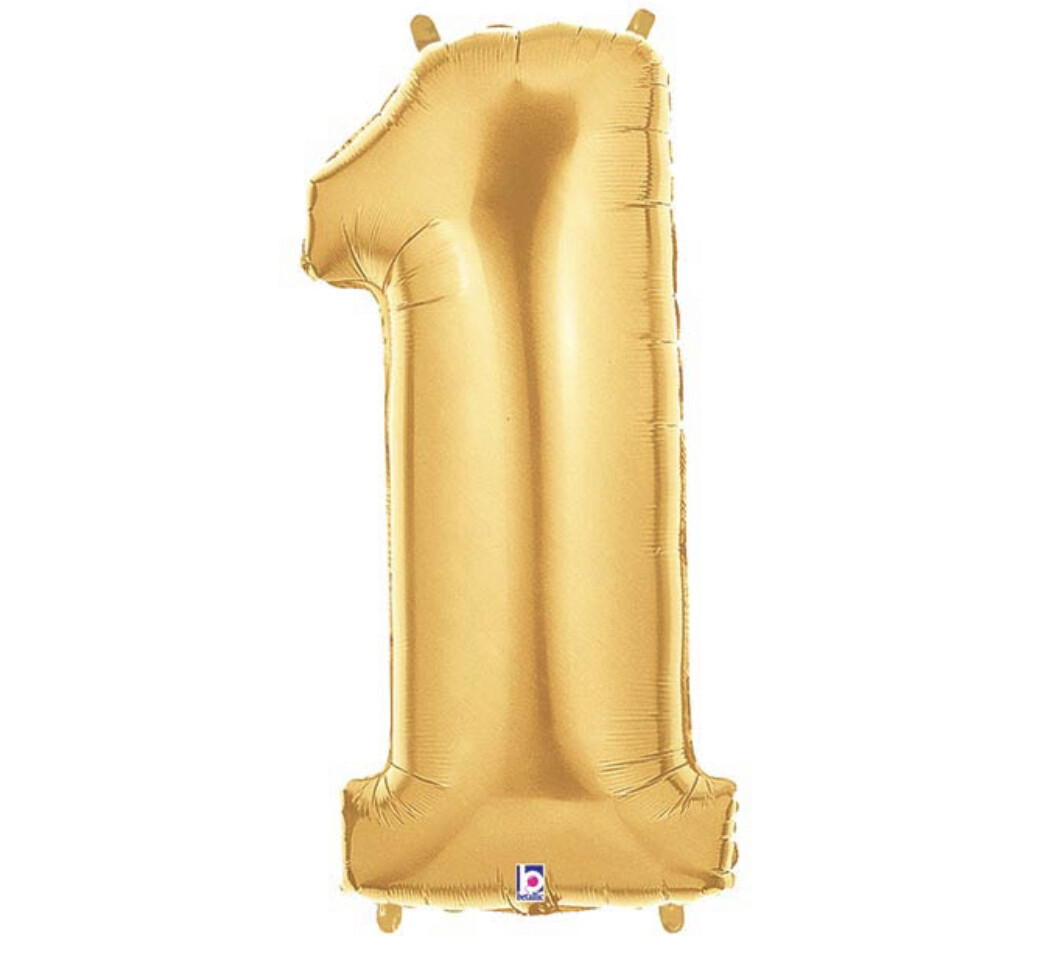 """40"""" Gold Number Balloon"""