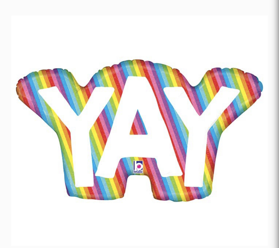 """34"""" Rainbow Yay Balloon"""