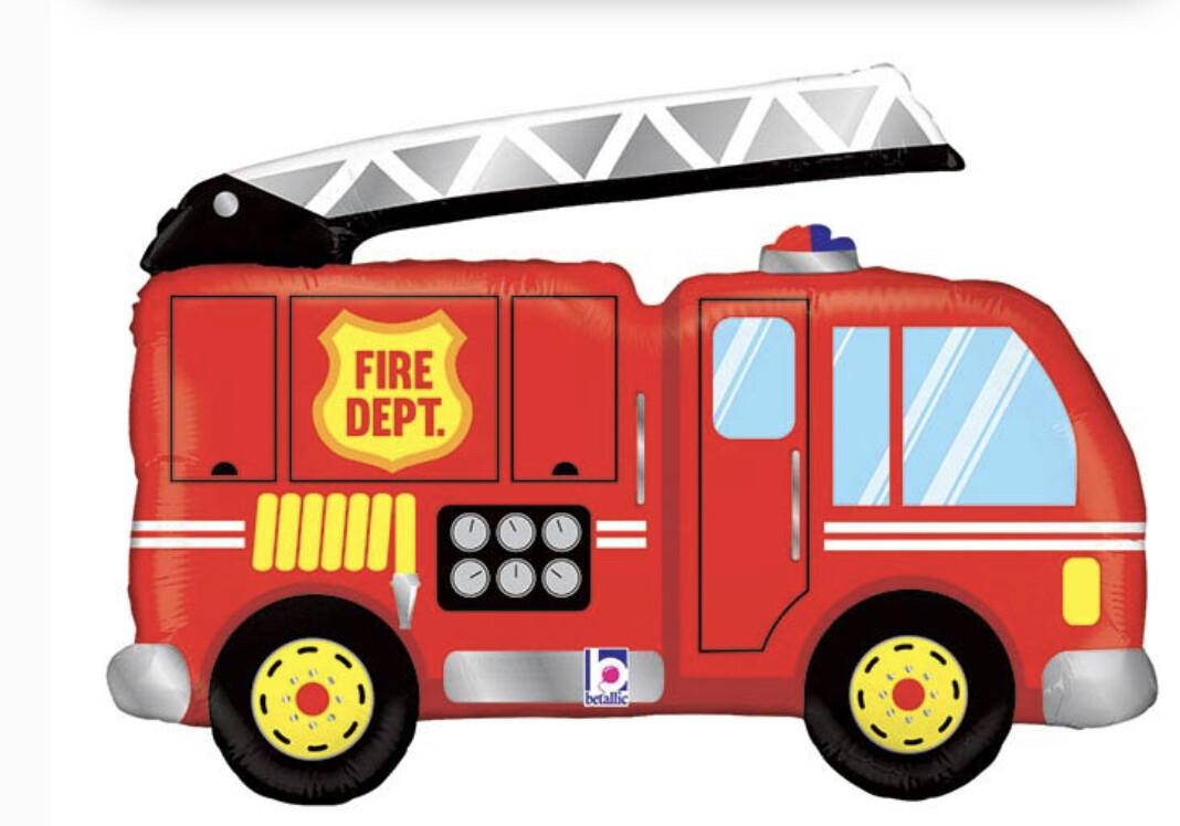 """40"""" Fire Truck Balloon"""