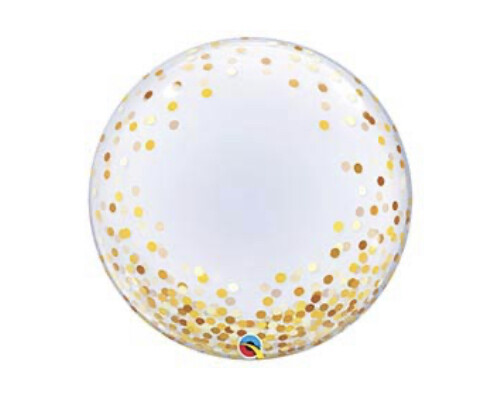 "24"" Gold Confetti Balloon"