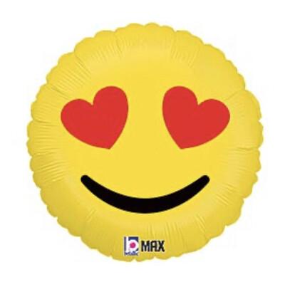 "36"" Luv Emoji Hearts Balloon"