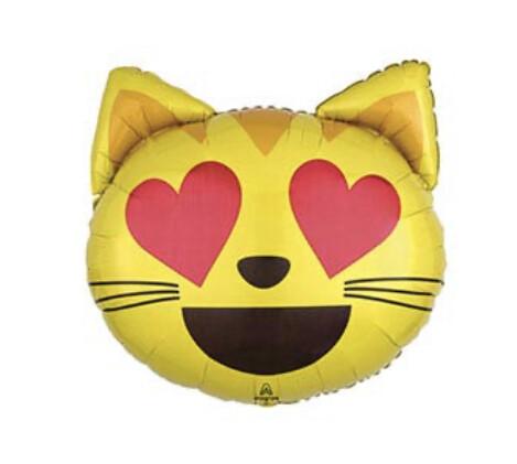 """22"""" Luv Emoticon Cat Balloon"""