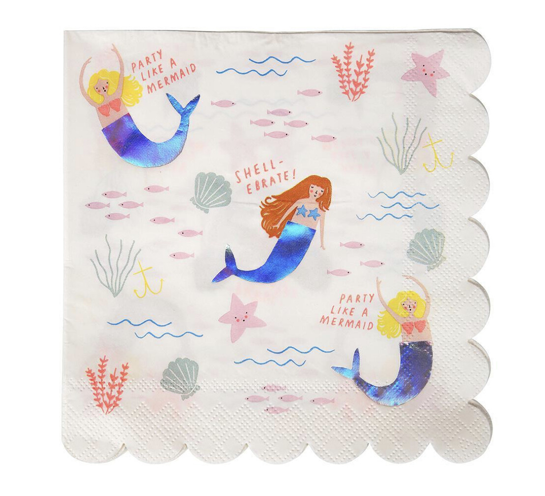 Let's Be Mermaids Large Napkins