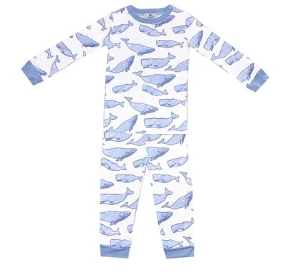 Watercolor Whales 2 Piece Jammies