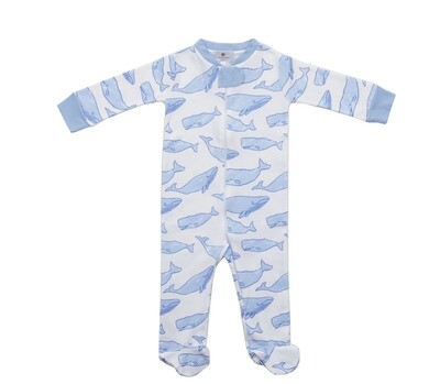 Watercolor Whales 1 Piece Jammies