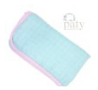 Aqua Pink Bamboo Muslin Blanket