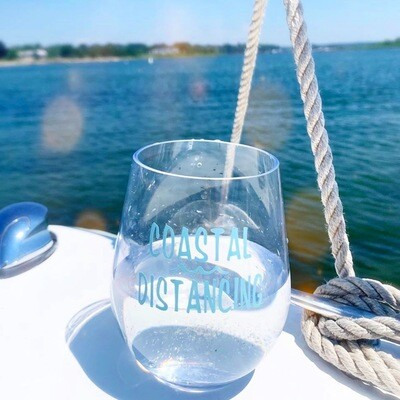 Coastal Distancing Shatterproof Wine Glasses