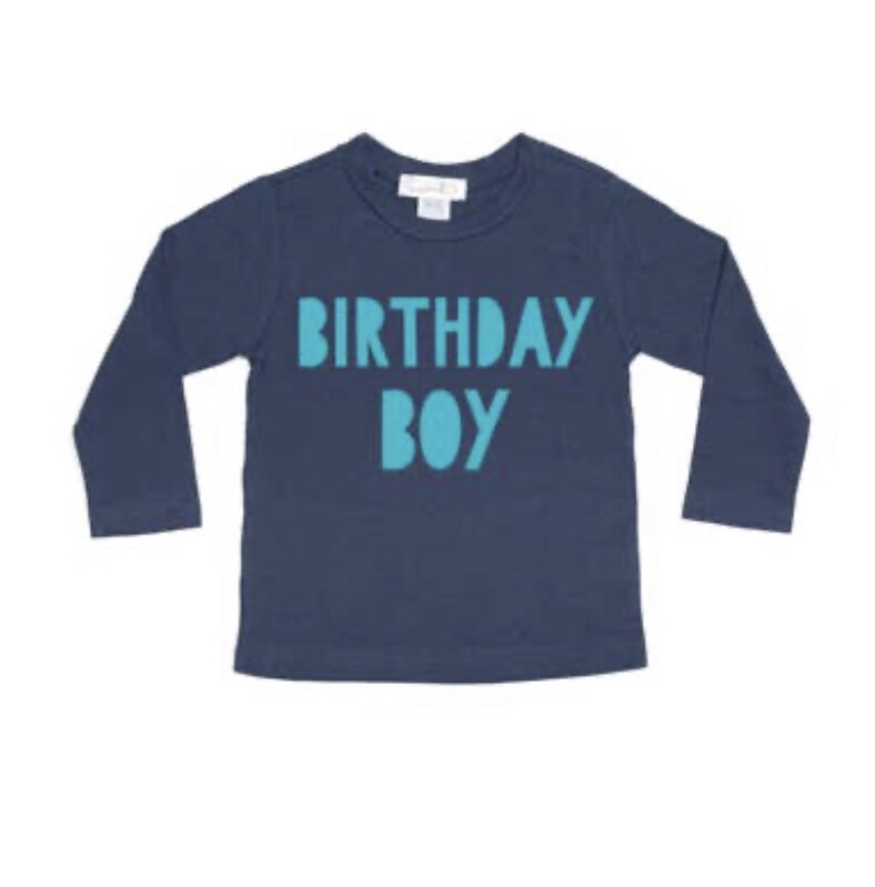 Birthday Boy Blue Long Sleeve Shirt