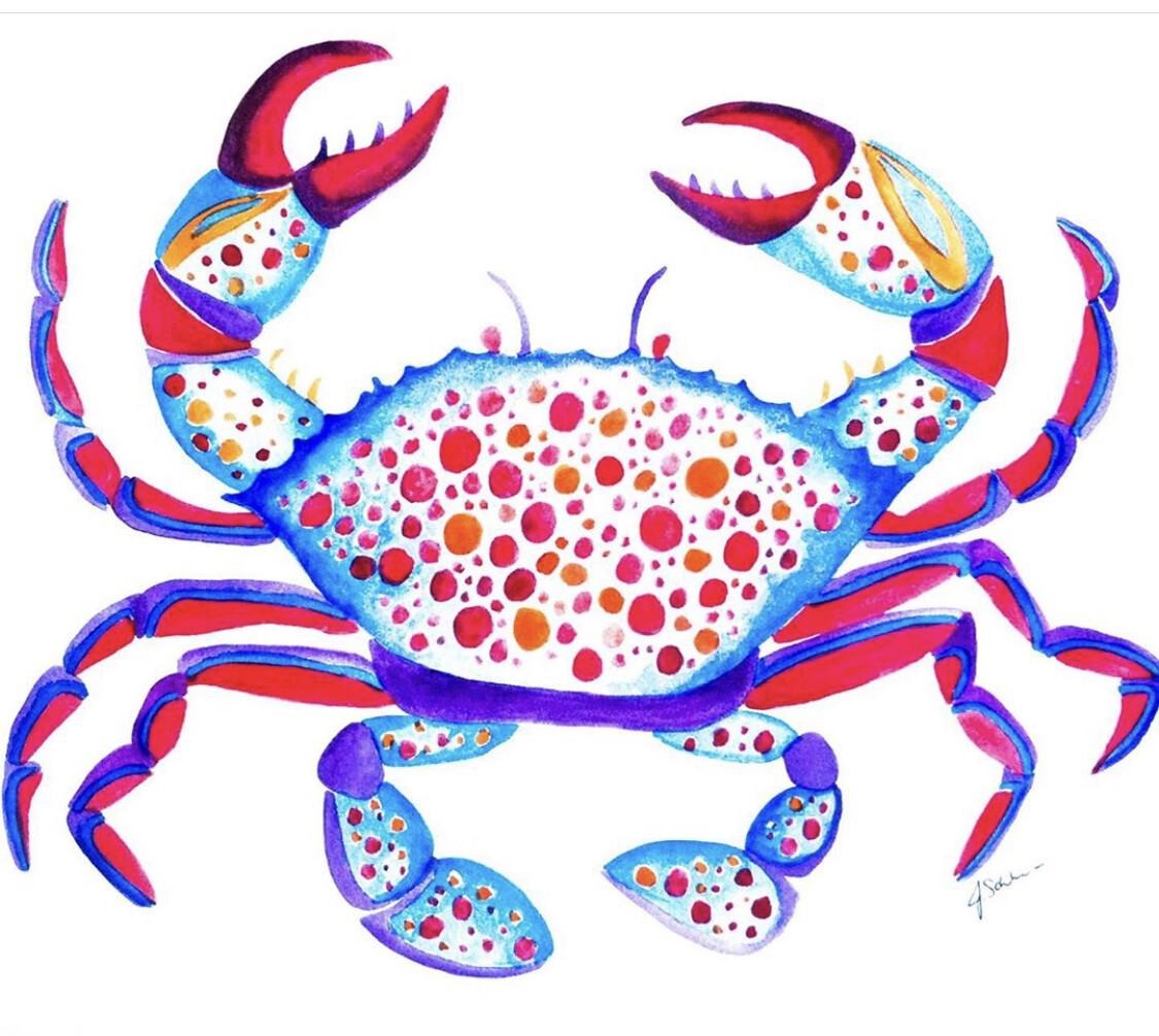 Crab Painting 8x10