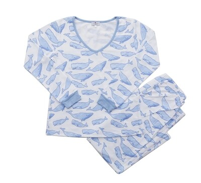 Women's Watercolor Whales Pajamas