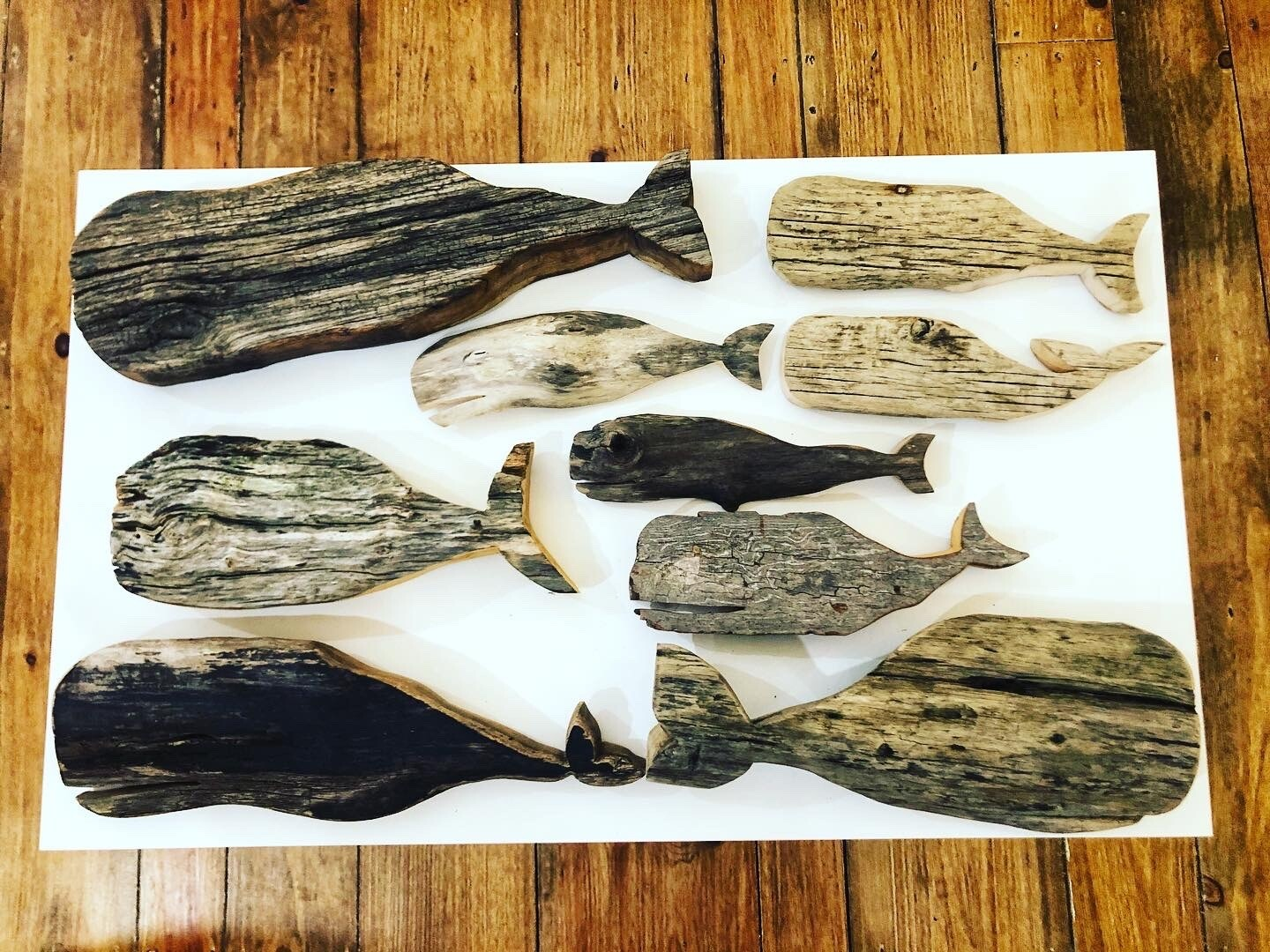 Small Driftwood Whale