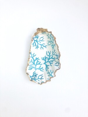Boston Seaport Blue Coral Oyster Shell