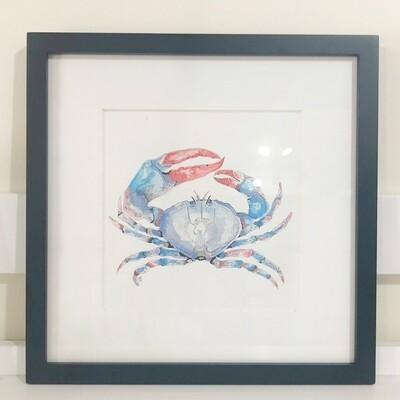 Crab Print Framed