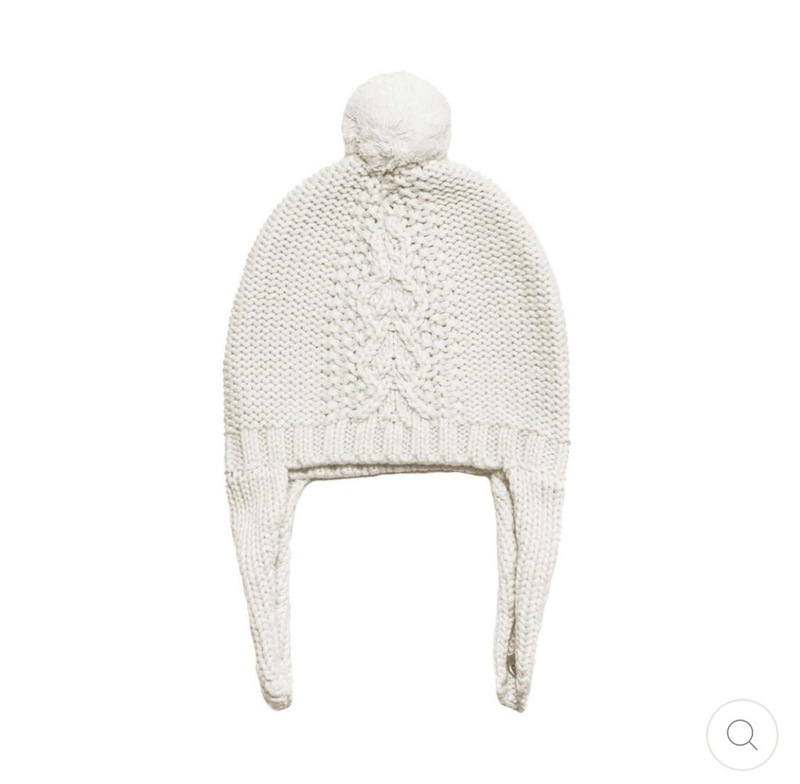 Cable Pilot Hat Ivory