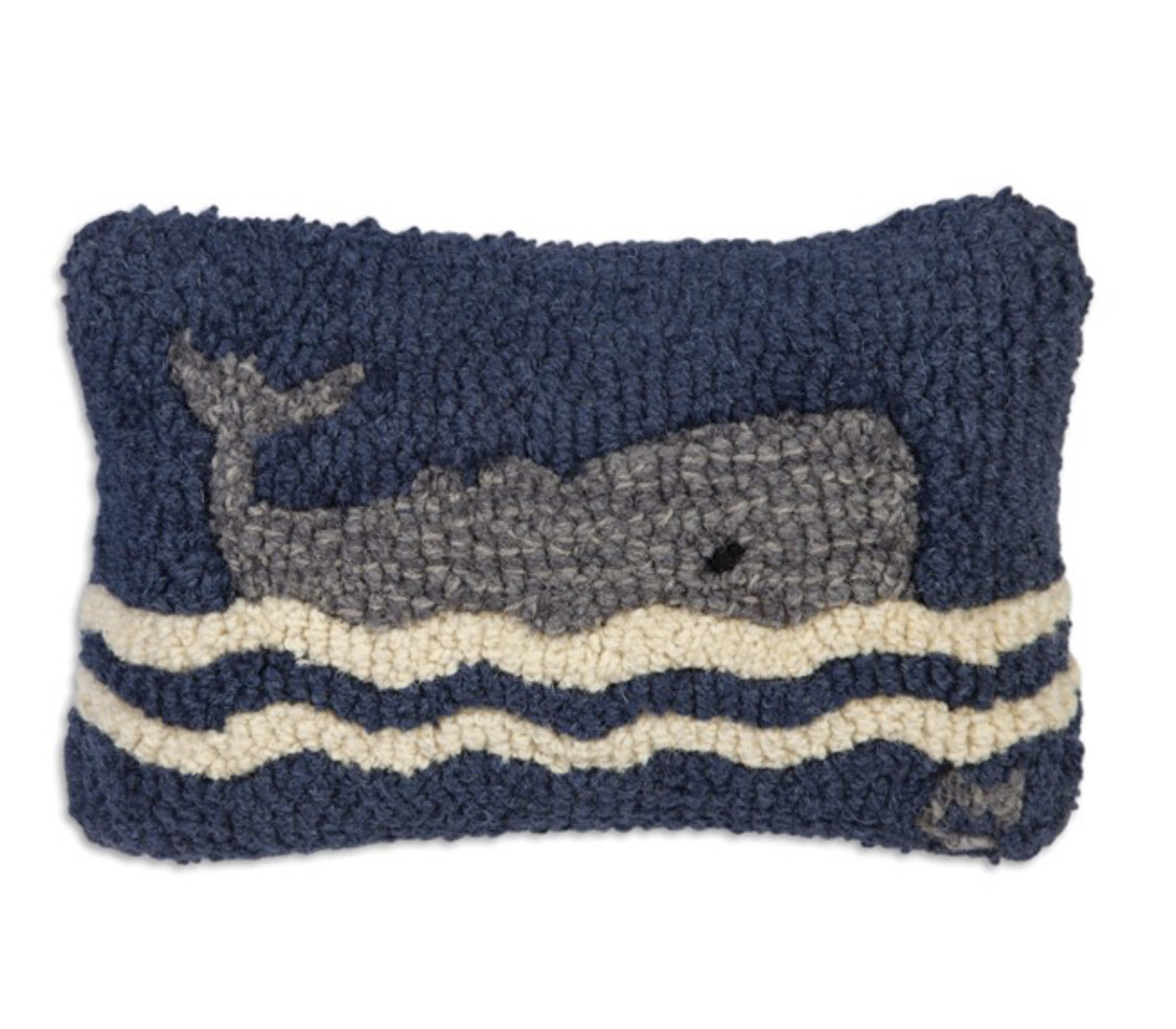 Wavy Whale Pillow