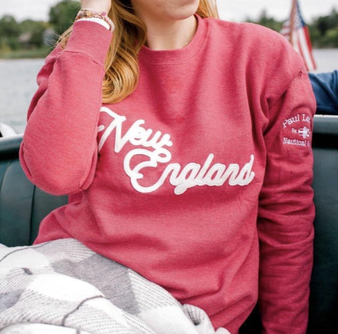 New England Sweatshirt - Red