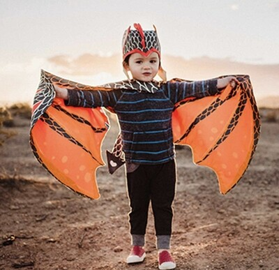 Lava Hat and Wing Dragon Set