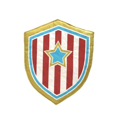 Red and Blue Hero Shield