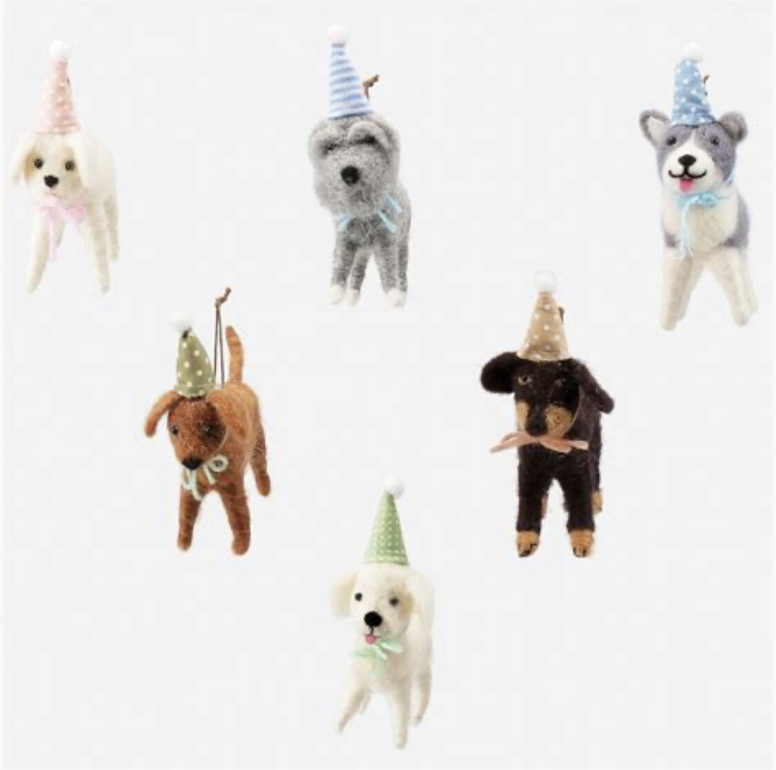 Party Dogs Ornaments