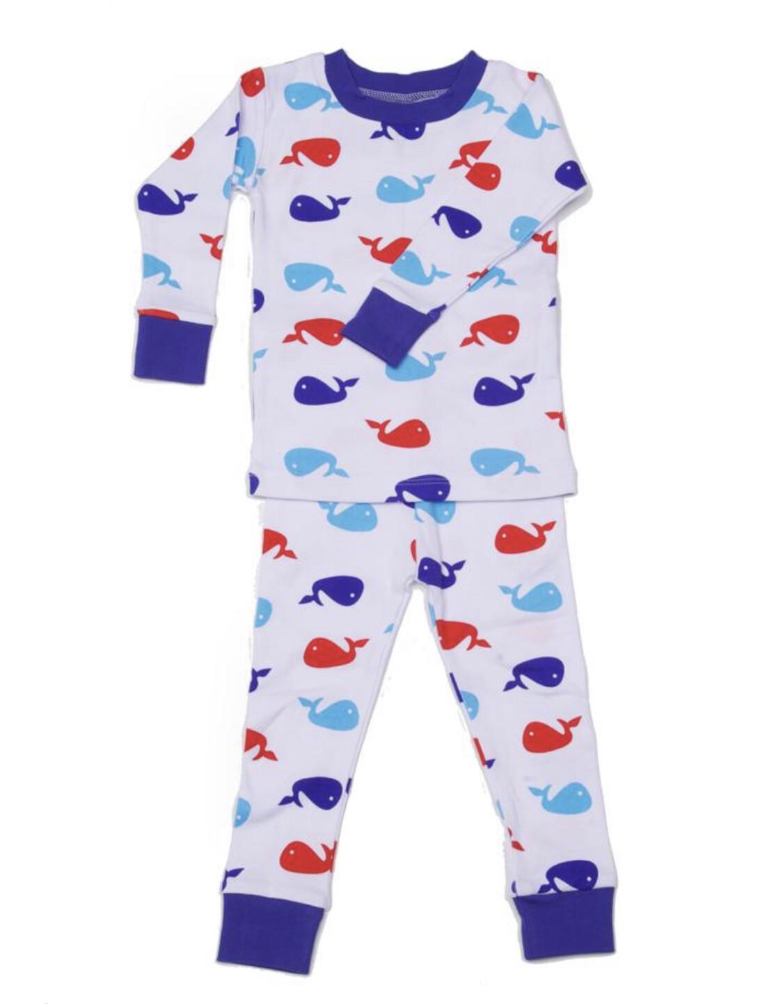 Whale Pajamas-Blue NJ