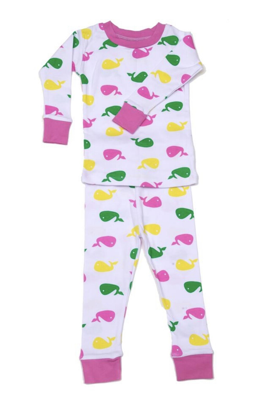 Whale Pajamas-Pink NJ