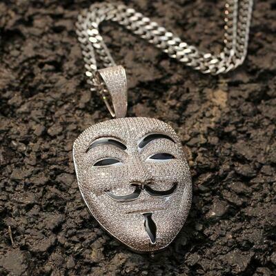 V for Vendetta Inspired Mask Pendant