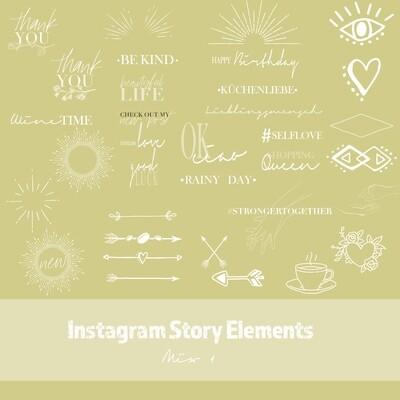 Instagram Story Elements - Mix I