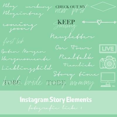 Instagram Story Elements - Fotografie Liebe
